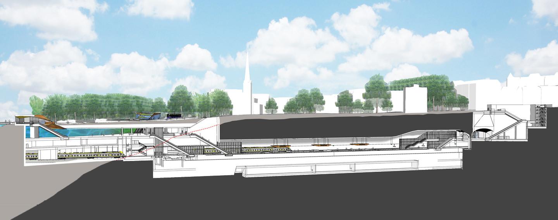 Västlänken Station Haga - Projektfakta