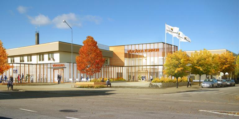 Öppna upp Centrumhuset med glasad utbyggnad