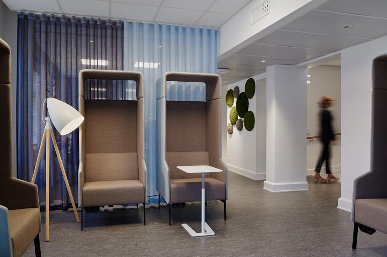 Zon 2 Lugn miljö - möbel med hög rygg