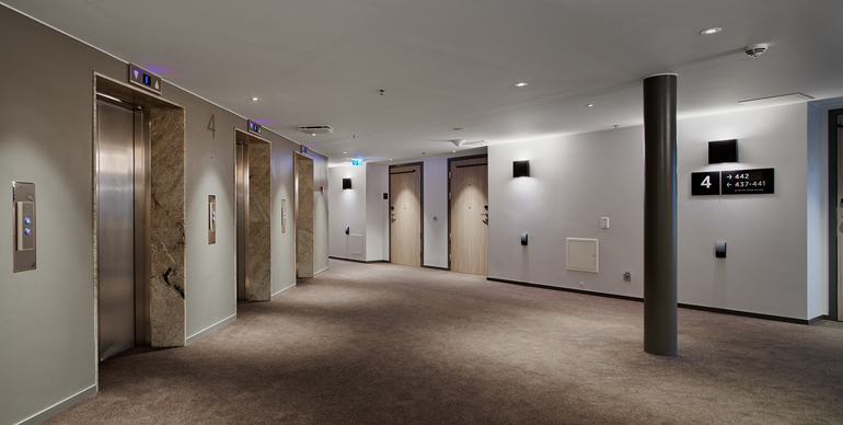 Tillgängliga ytor i korridoren