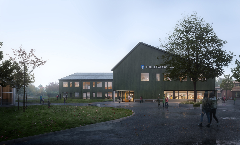 Skolan mitt i byn