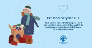 Tackkort från Göteborgs Stadsmission
